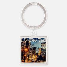 I Heart NYC Square Keychain