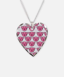 Cute Pink Pigs Necklace