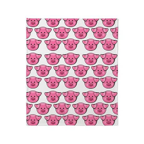 Cute Pink Pigs Throw Blanket