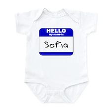 hello my name is sofia  Infant Bodysuit