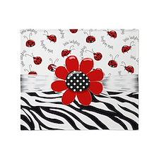 Wild Ladybugs Throw Blanket