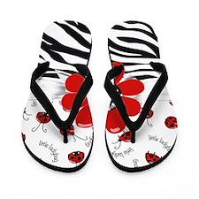 Wild Ladybugs Flip Flops