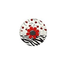 Wild Ladybugs Mini Button