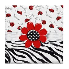 Wild Ladybugs Tile Coaster