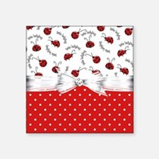 "Ladybug  Surprises Square Sticker 3"" x 3"""