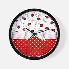 Ladybug  Surprises Wall Clock