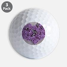 Lilac Ribbon Roses Heart Golf Ball