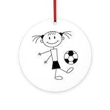 soccer_girl Round Ornament