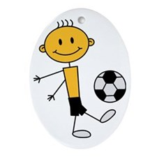 soccer_boy Oval Ornament