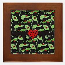 Ladybug Heart Framed Tile