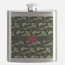 Ladybug Heart Flask