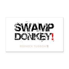 SWAMP DONKEY - REDNECK TUGBOA Rectangle Car Magnet