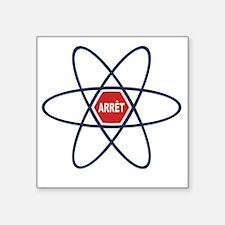 "stop-nuke-LTT Square Sticker 3"" x 3"""