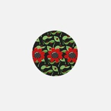 Ladybugs and Flowers Mini Button