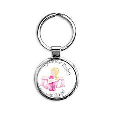 Bellydance Baby Girl Round Keychain