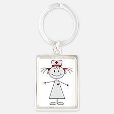 nurse Portrait Keychain