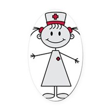 nurse Oval Car Magnet