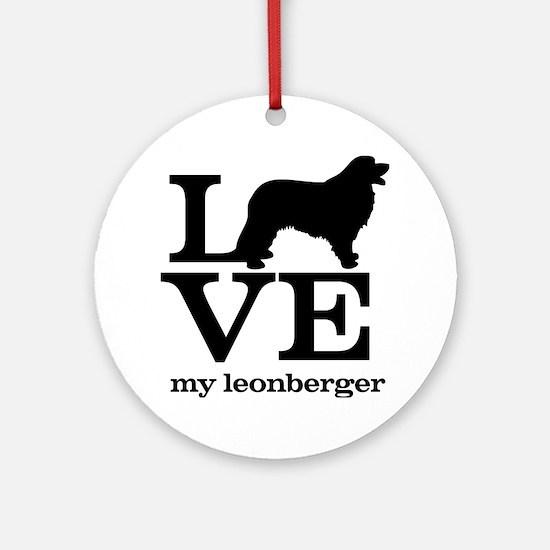 Love my Leonberger Round Ornament