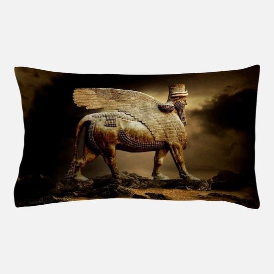Winged Bull Pillow Case