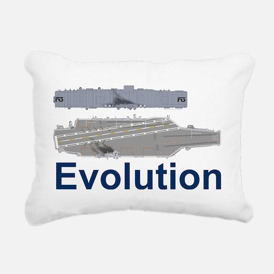 USS Nimitz CVN-68 USS Ho Rectangular Canvas Pillow