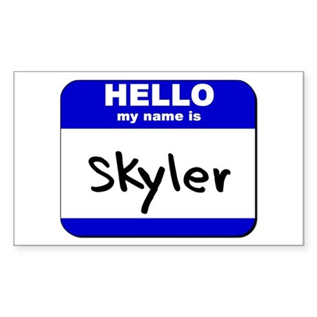 hello my name is skyler Rectangle Sticker