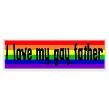 """Gay Father"" Bumper Bumper Sticker"