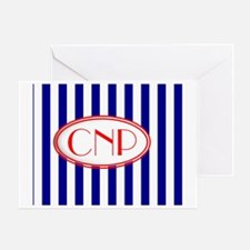 cnp red white blue Greeting Card