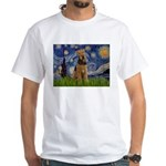 Starry - Airedale #1 White T-Shirt