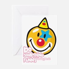 Clown Smiley Greeting Card