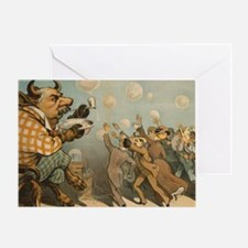 Wall Street Bubbles Political Poster Greeting Card