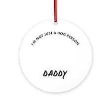 Affenpinscher Daddy designs Round Ornament