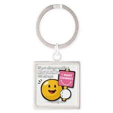 Looking for a change Smiley Square Keychain