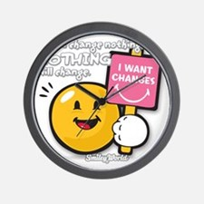 Looking for a change Smiley Wall Clock