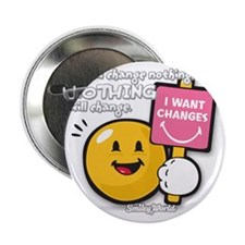 """Looking for a change Smiley 2.25"""" Button"""