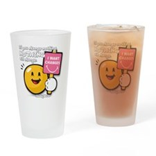 Looking for a change Smiley Drinking Glass