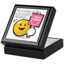 Looking for a change Smiley Keepsake Box