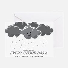 Cloudy Smiley Greeting Card