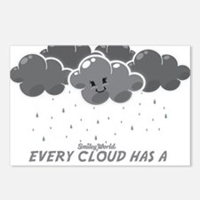 Cloudy Smiley Postcards (Package of 8)