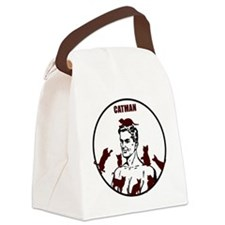 The Crazy CatMan Canvas Lunch Bag