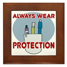 Pocket Protector Framed Tile