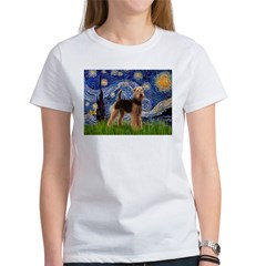 Starry Night - Airedale #6 Women's T-Shirt