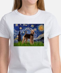Starry Night - Airedale #6 Tee