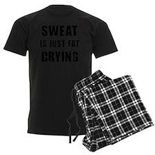 Funny Sweat is Fat Crying Shir Pajamas