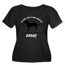 BELGIAN  Women's Plus Size Dark Scoop Neck T-Shirt