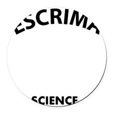 Escrima the real sweet science Round Car Magnet