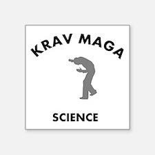 "Krav Maga the real sweet sc Square Sticker 3"" x 3"""