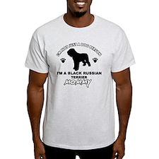 Black Russian Terrier mommy designs T-Shirt