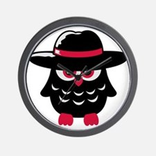 owl_with_hat Wall Clock