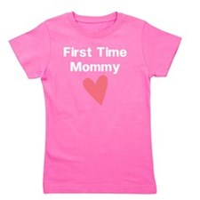 Cute First Time Mommy Girl's Tee
