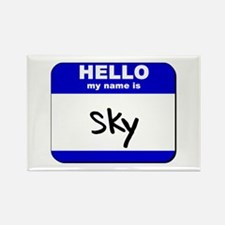 hello my name is sky Rectangle Magnet